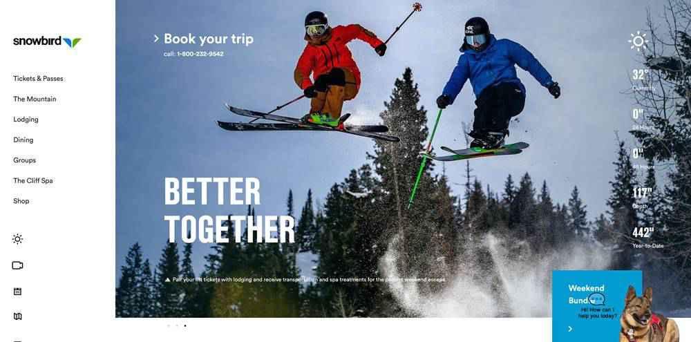 Snowbird clean web design inspiration example website
