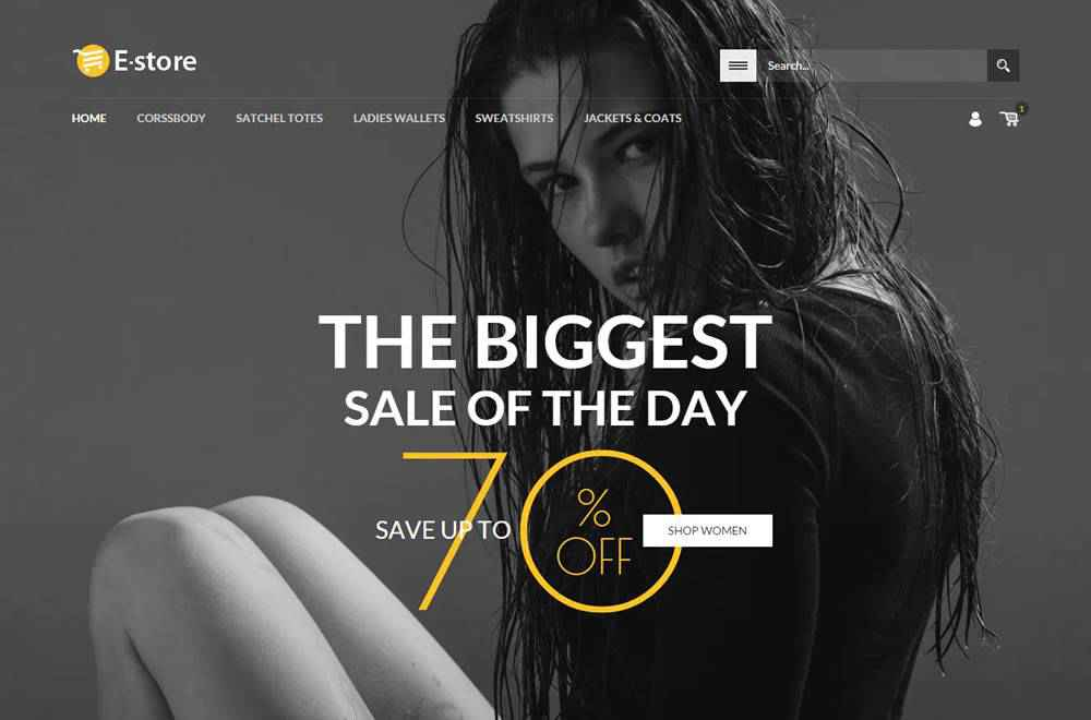 E-Store clean web design inspiration example website