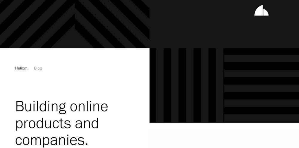 Heliom clean web design inspiration example website