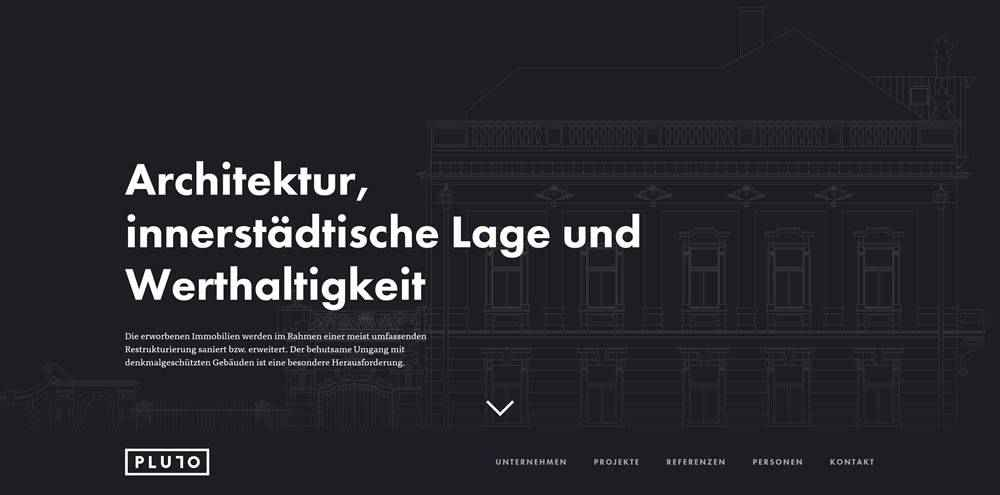 Pluto clean web design inspiration example website
