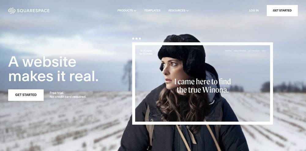 Squarespace clean web design inspiration example website