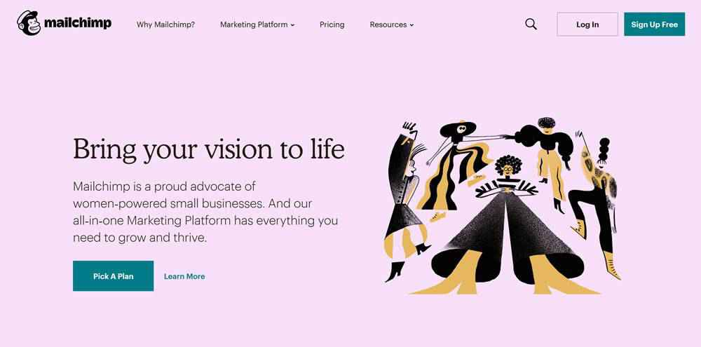 Mailchimp clean web design inspiration example website