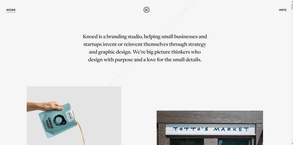 Knoed Creative clean web design inspiration example website