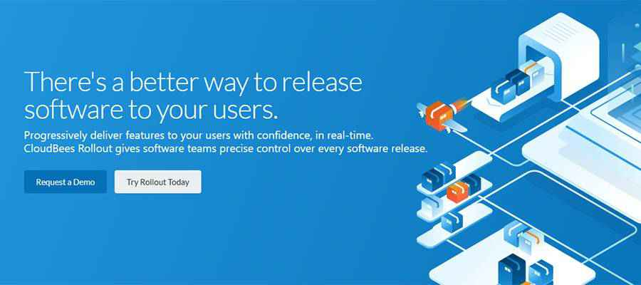 CloudBees Rollout home page.
