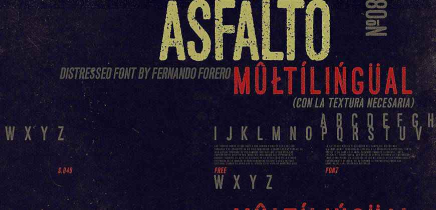 Asfalto Font free clean font typeface
