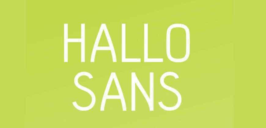 Hallo Sans free clean font typeface