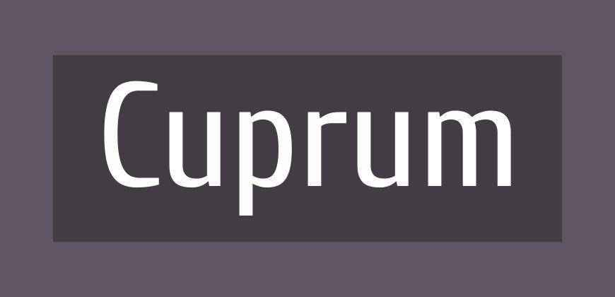Cuprum free clean font typeface