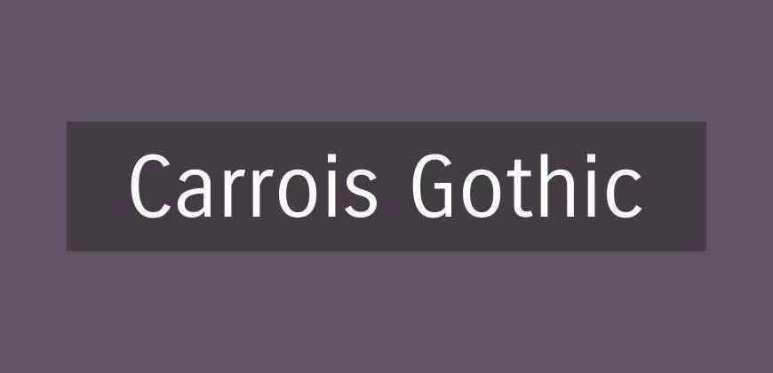 Carrois Gothic free clean font typeface