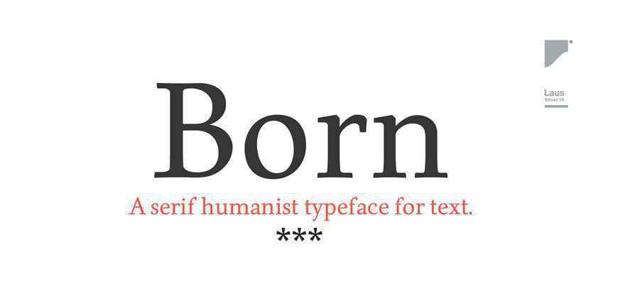 Born free clean font typeface