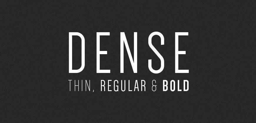Dense free clean font typeface