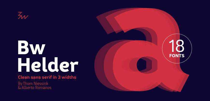 Bw Helder clean font typeface