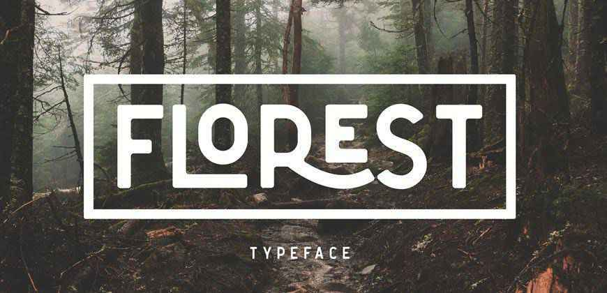 The Florest clean font typeface