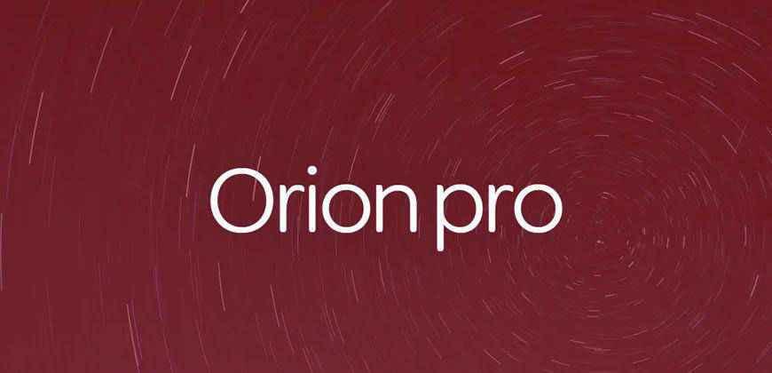 Orion Pro clean font typeface