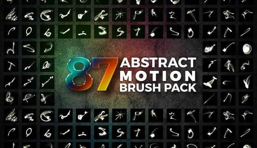 Abstract Motion Brush Pack fractal geometrical photoshop brushes free