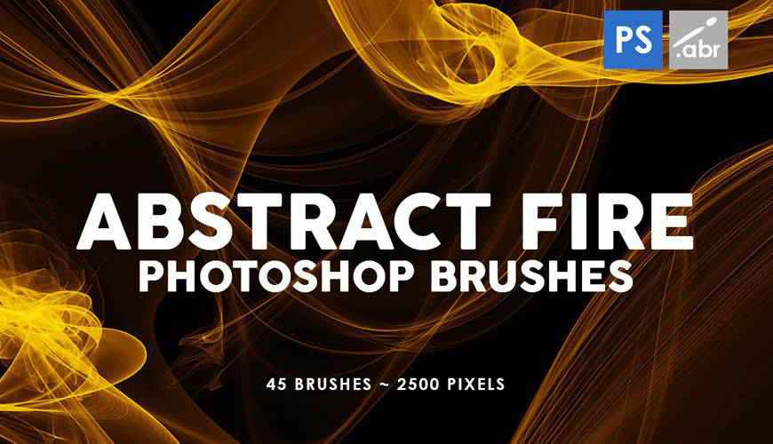 45 Abstract Fire abstract fractal geometrical photoshop brushes free