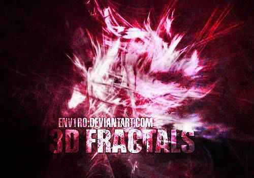 3d abstract fractal geometrical photoshop brushes free