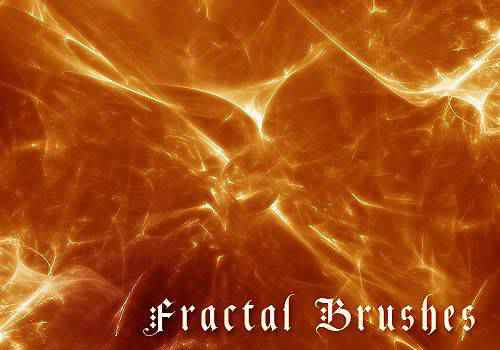 abstract fractal geometrical photoshop brushes free