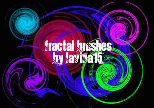 Swirls abstract fractal geometrical photoshop brushes free