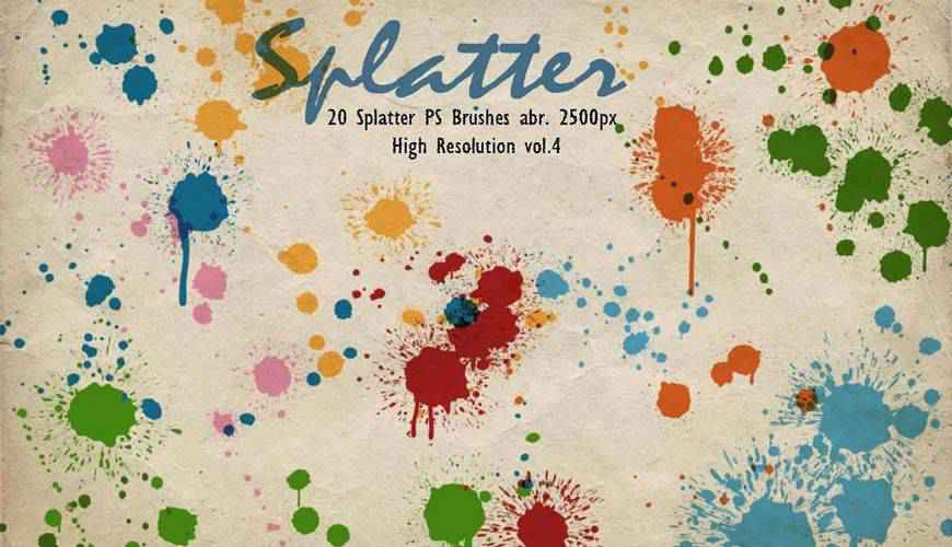 ink paint blood splatter photoshop brushes free