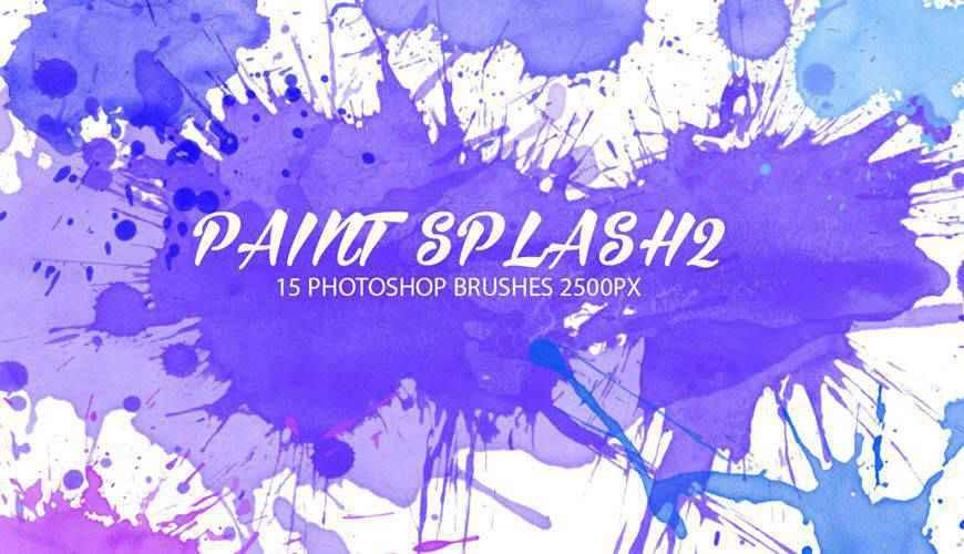 ink paint blood splatter photoshop brushes free