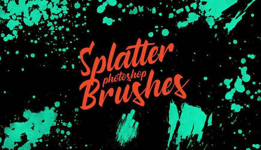 Stamp ink paint blood splatter photoshop brushes free