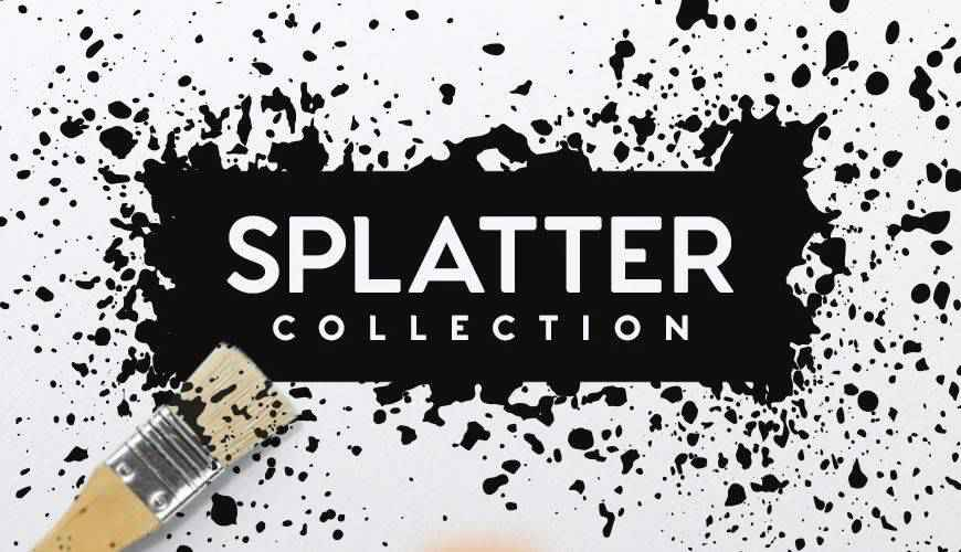 Collection ink paint blood splatter photoshop brushes free