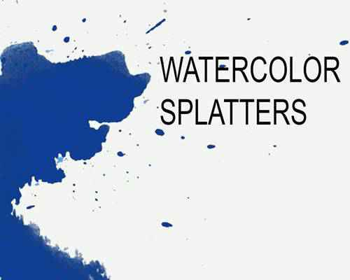 Watercolor Splatters ink paint blood splatter photoshop brushes free