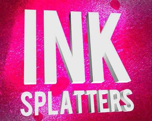 Grungy Ink paint blood splatter photoshop brushes free
