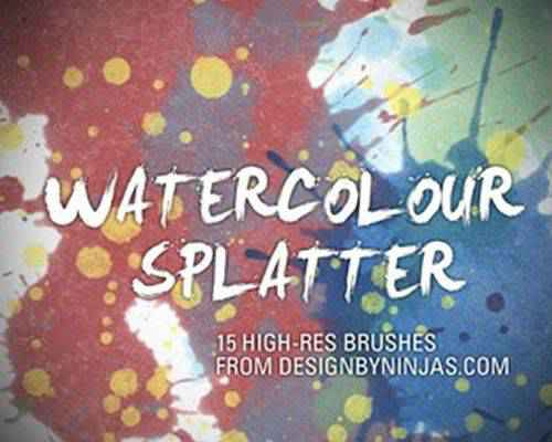 Watercolour ink paint blood splatter photoshop brushes free