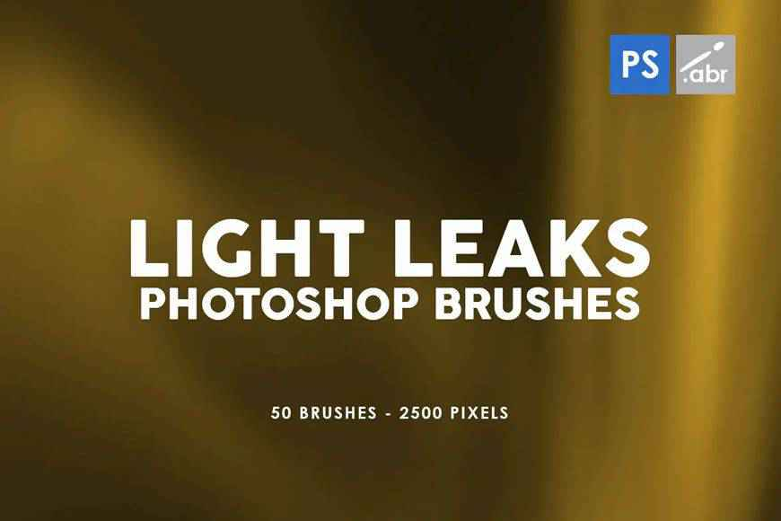 Leaks light streak effect photoshop brushes free