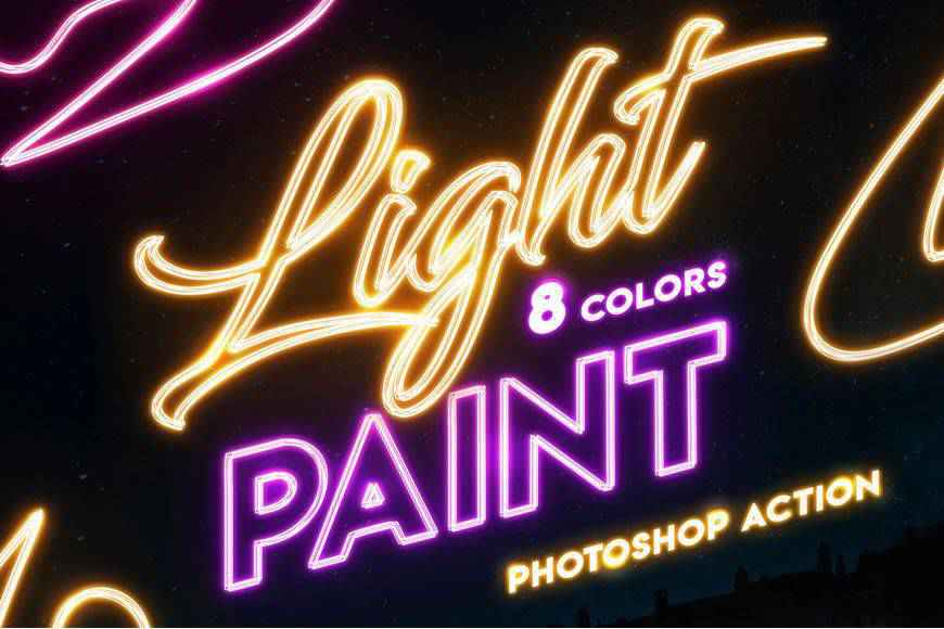 Painting action light streak effect photoshop brushes free