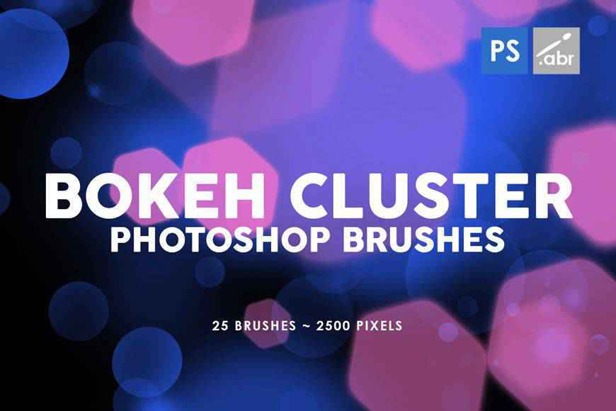 Bokeh Cluster light streak effect photoshop brushes free