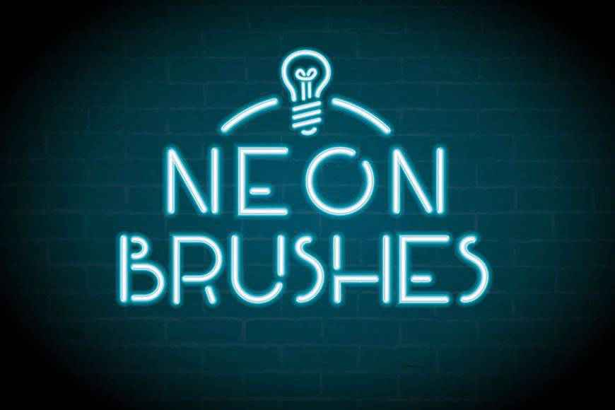 Neon light streak effect photoshop brushes free
