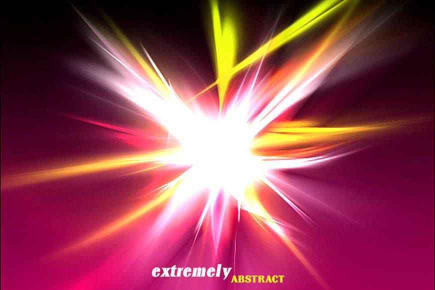Extremely Abstract light streak effect photoshop brushes free