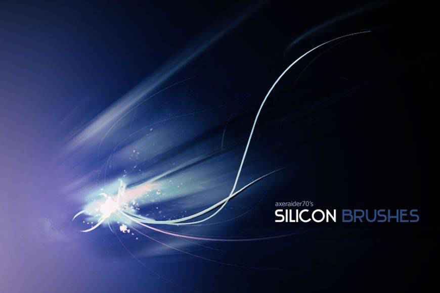 Silicon light streak effect photoshop brushes free