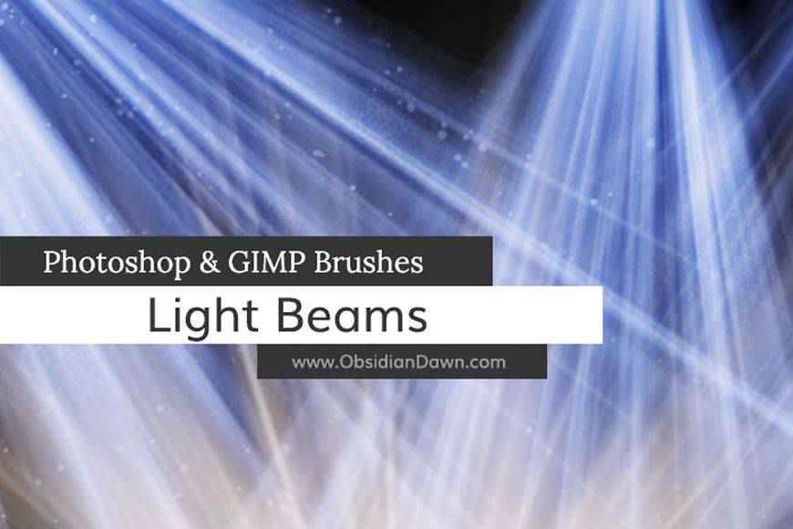 Light Beams & Rays light streak effect photoshop brushes free