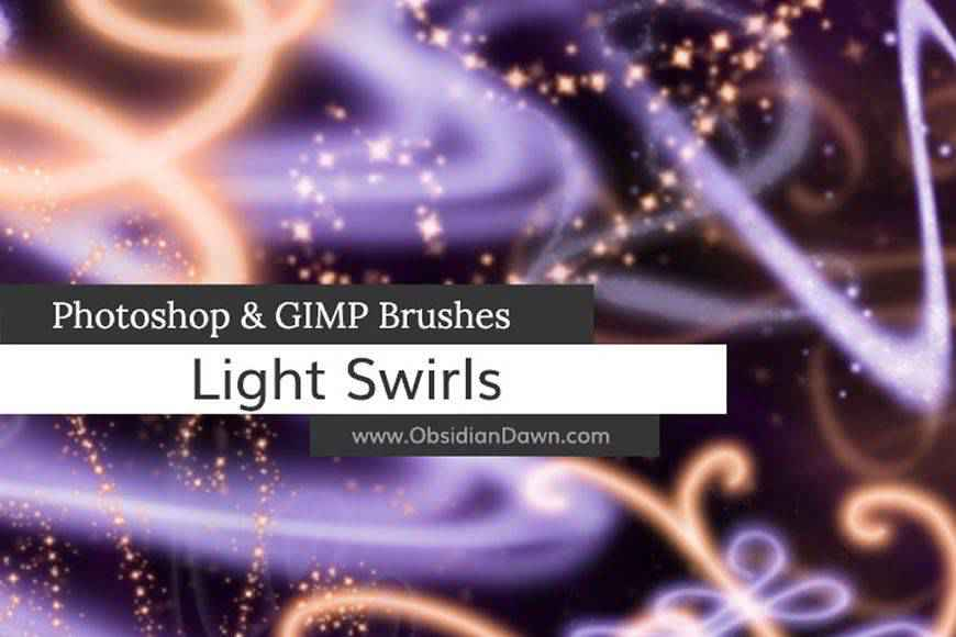 Light Swirl streak effect photoshop brushes free