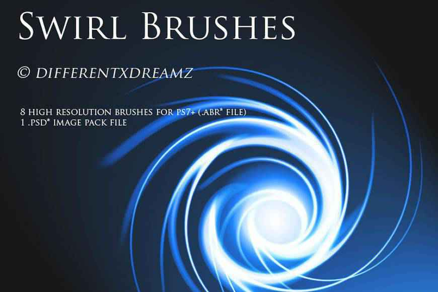 Abstract light streak effect photoshop brushes free