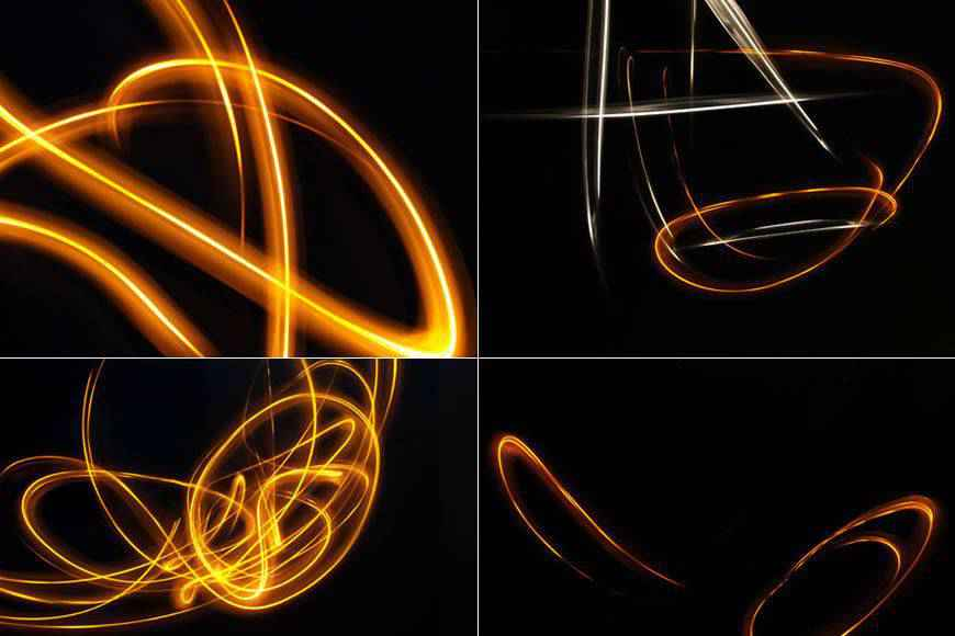 High-Res Glowing light streak effect photoshop brushes free