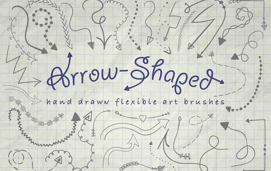 Arrow-Shaped Art ribbon swirl photoshop brush free