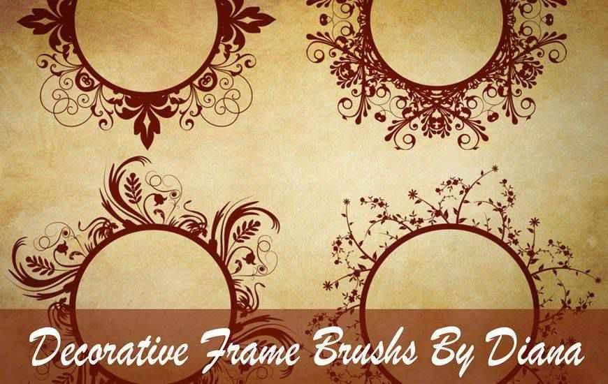 Decorative Swirl Frame ribbon swirl photoshop brush free