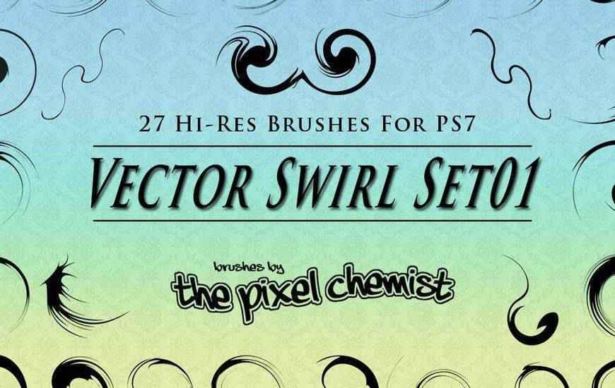 Vector Swirl ribbon swirl photoshop brush free