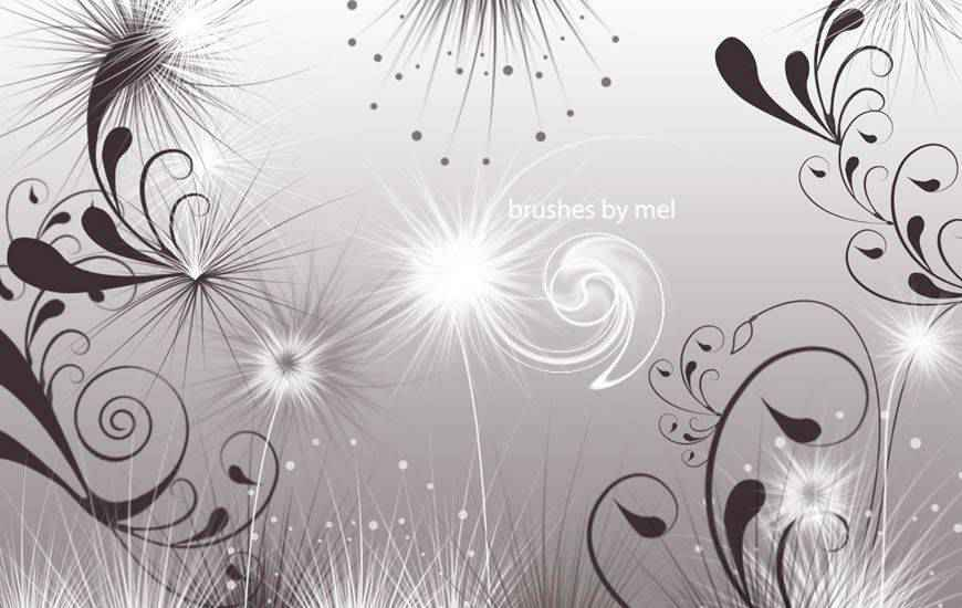 Swirls & Seeds ribbon swirl photoshop brush free