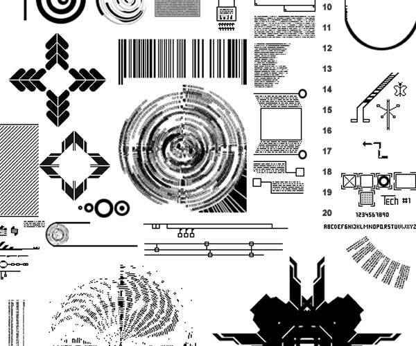 big technology tech industrial photoshop brushes free
