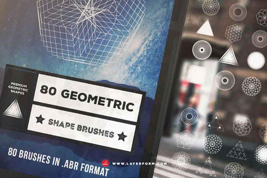Geometric Shape technology tech industrial photoshop brushes free