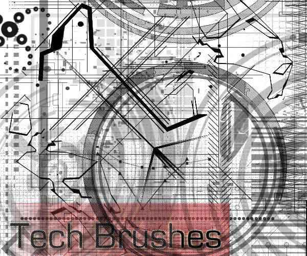 100 technology tech industrial photoshop brushes free