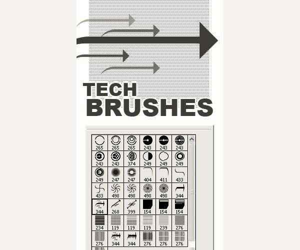 Mega Pack technology tech industrial photoshop brushes free