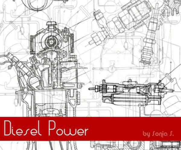 Diesel Power technology tech industrial photoshop brushes free