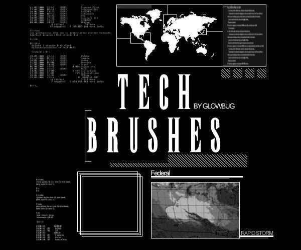 technology tech industrial photoshop brushes free