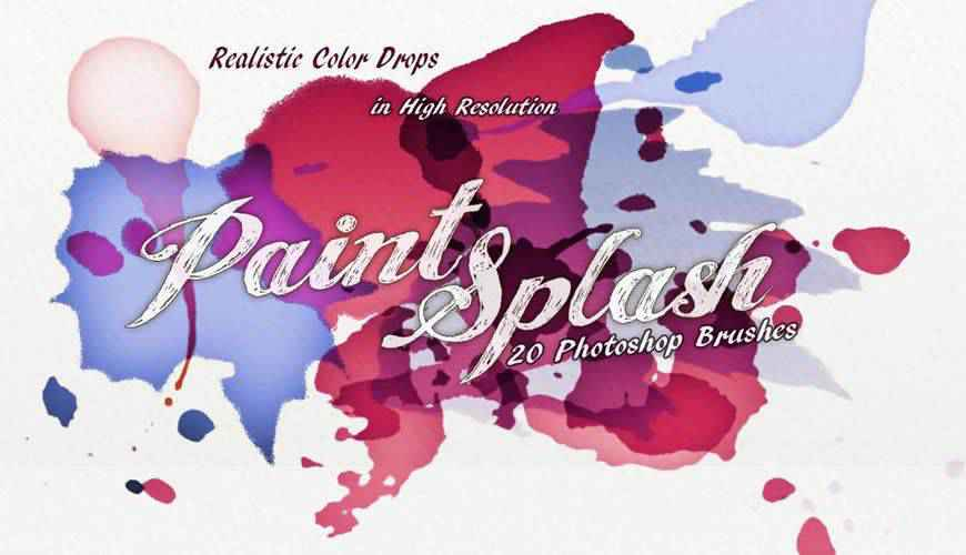 Paint Splash watercolor photoshop brushes free